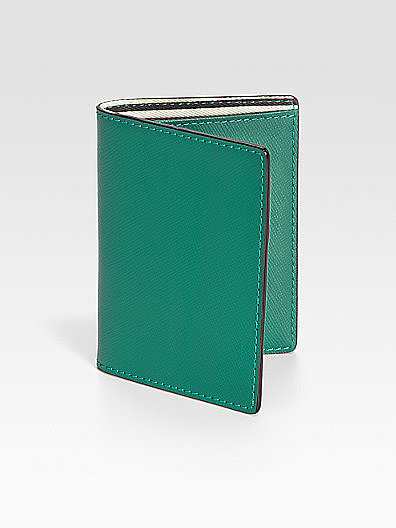 Jack Spade Wesson Leather Vertical Flap Wallet
