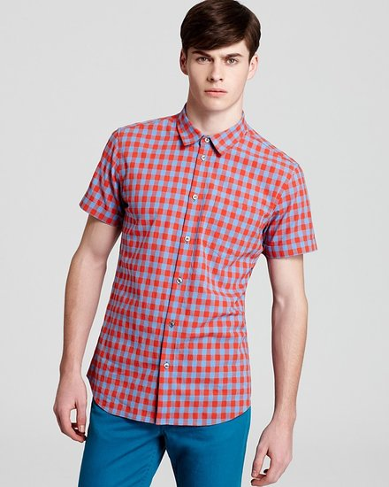 MARC BY MARC JACOBS Molly Gingham Check Short Sleeve Sport Shirt - Slim Fit