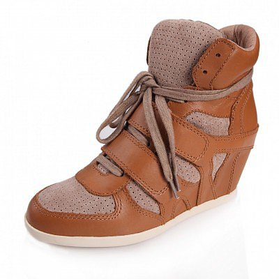 ASH BEA WEDGE SNEAKER NATURAL SUEDE/CHAMOIS LEATHER 330004