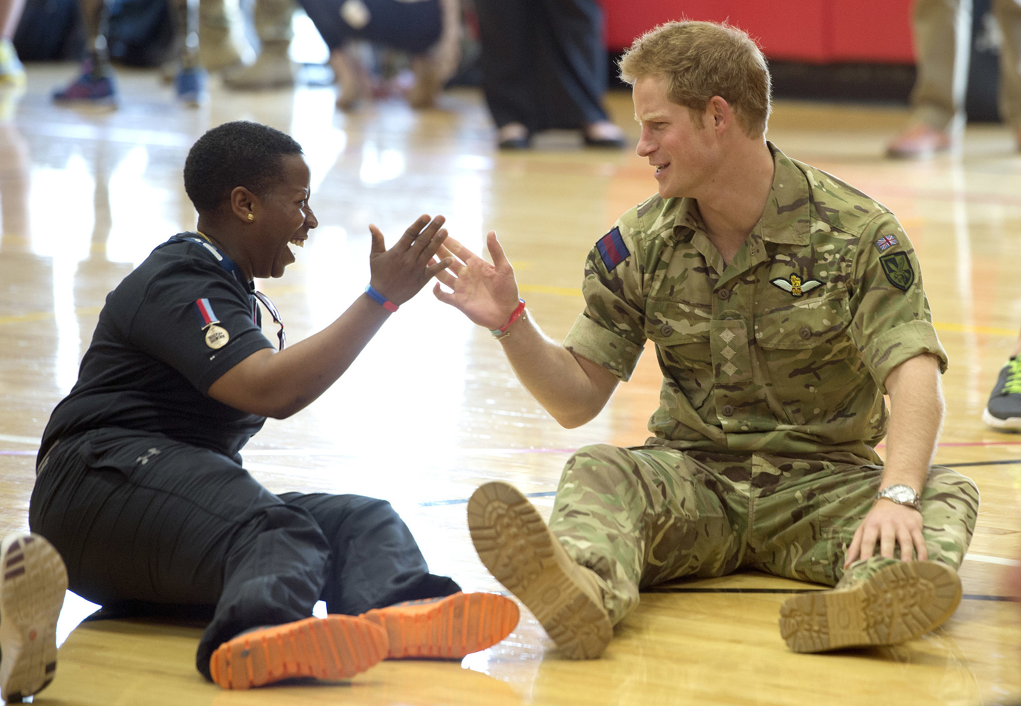 Prince Harry chatted with a competitor.