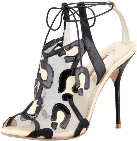 Sophia Webster Blake Leopard Mesh Tie Sandal