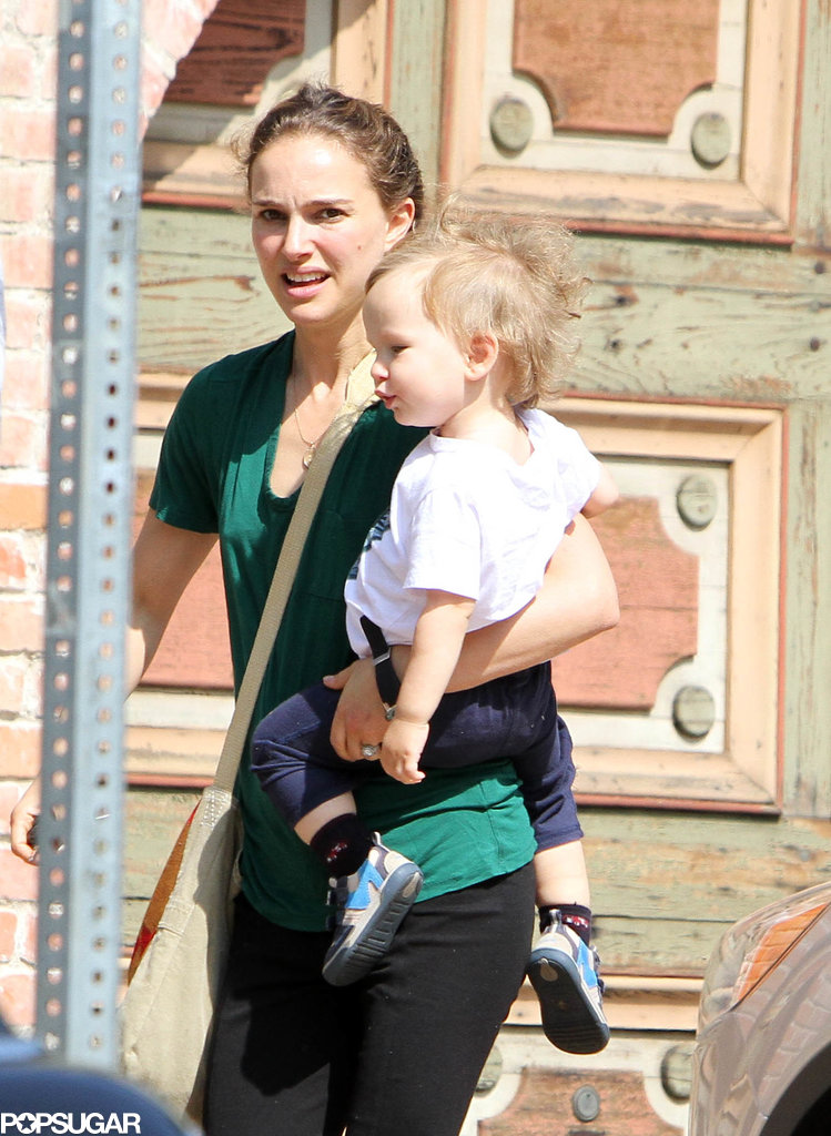 Natalie Portman ran errands with her son, Aleph, in LA.