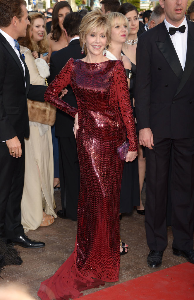 Jane Fonda turned heads in a red number when she walked the red carpet at the Cannes Film Festival in 2012.