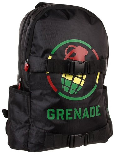 Grenade - Logo Backpack (Rasta) - Bags and Luggage
