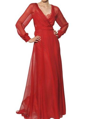 Silk Chiffon Long Dress