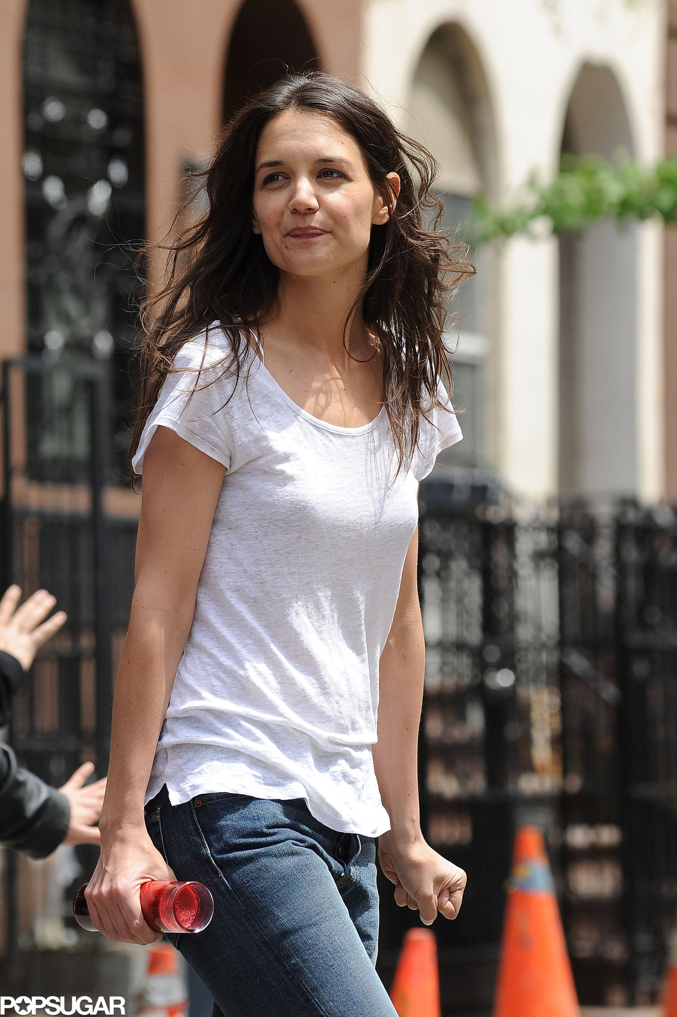 Katie Holmes was on the set of her new film Mania Days on Tuesday.
