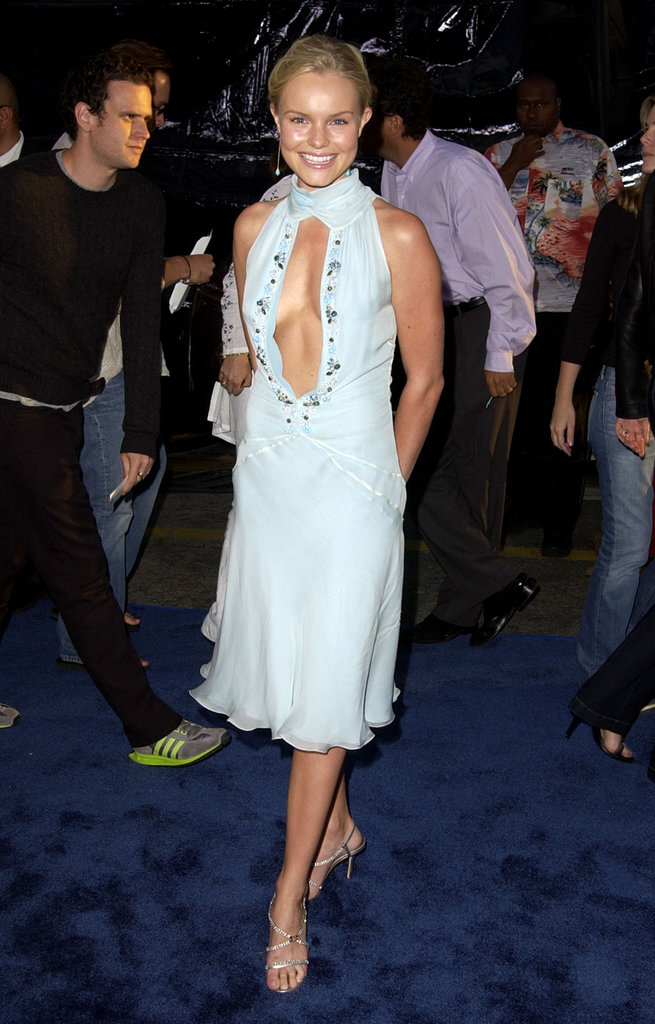 For the 2007 LA premiere of Blue Crush, the leading lady wowed in a pale blue Roberto Cavalli confection with an embellished keyhole bodice and fluttering hemline.