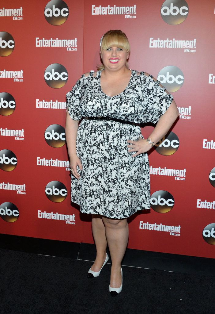 Rebel Wilson worked her stuff at the party.