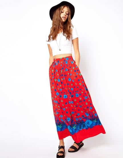 ASOS Maxi Skirt in Floral Print
