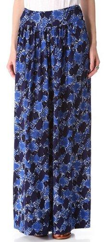 Rebecca taylor Snake Print Maxi Skirt