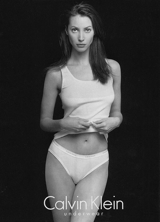 Christy Turlington Burns in the Calvin Klein Underwear Spring 1996 campaign.