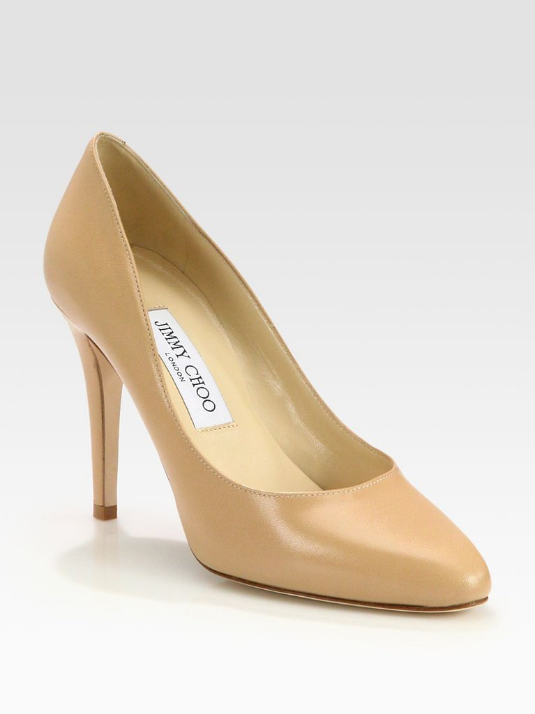 A classic pair of nude pumps will never go out of style. These Jimmy Choo single-sole heels ($595) will be perfect for the interview, the first day, and the big promotion.