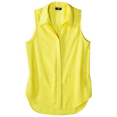 Mossimo's Sleeveless Woven Shirt ($20) is easy, breezy, and would look gorgeous against a Summer glow.