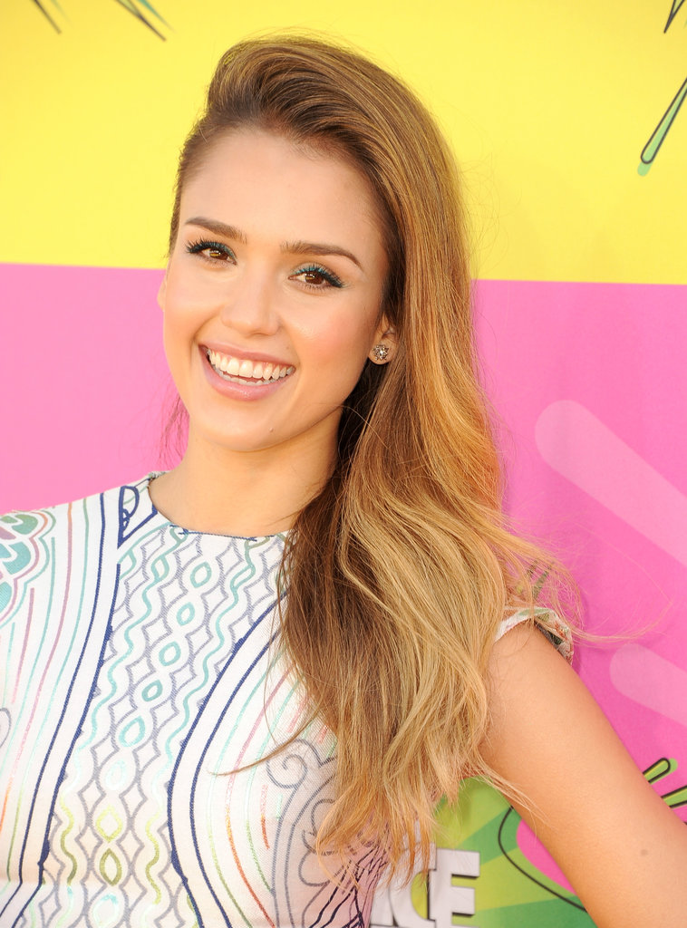 Jessica Alba has most recently been sporting a blond hue, and we love the soft golden color on her.