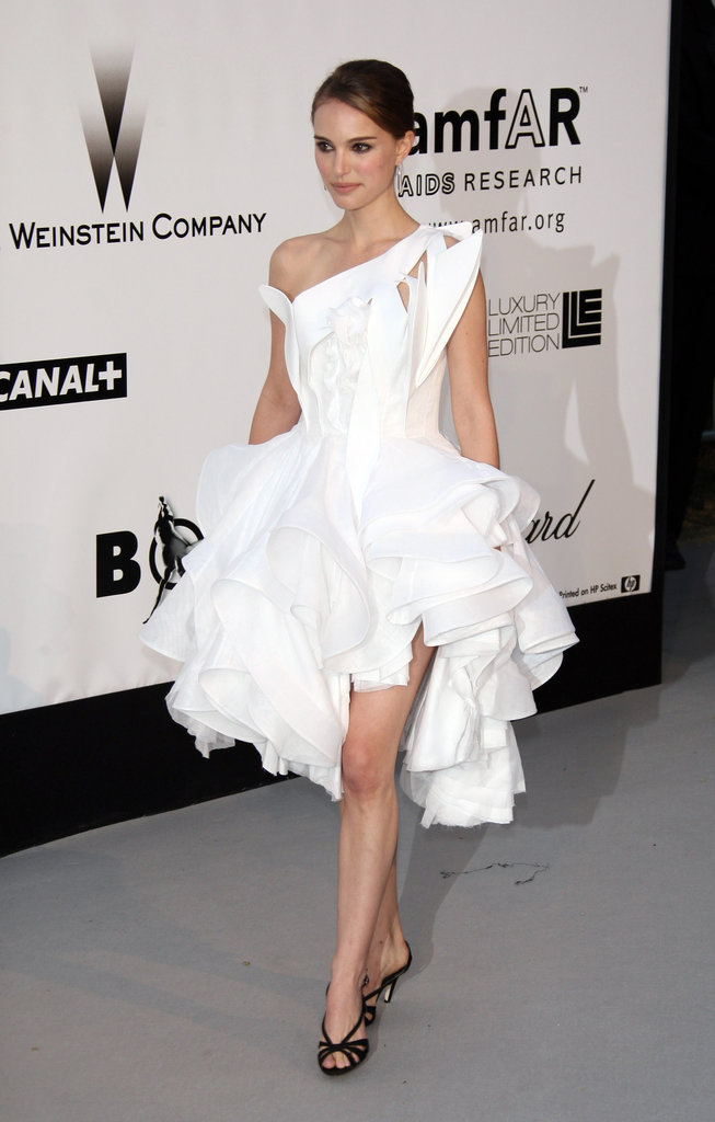 Natalie Portman wore this dramatic Givenchy dress to the amfAR Cinema Against AIDS dinner at Cannes in 2008.