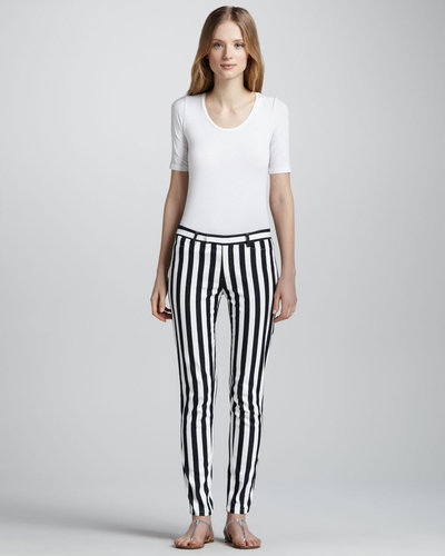 Nanette Lepore Taverna Panorama Slim Striped Pants
