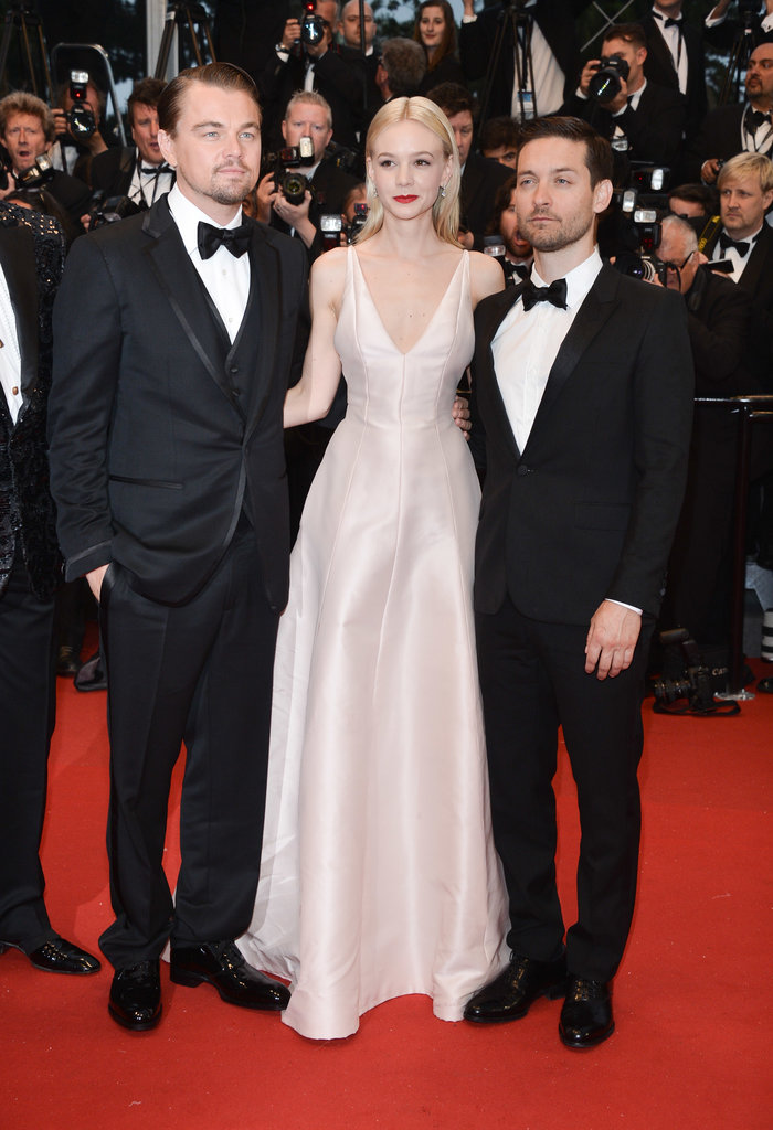 At The Great Gatsby premiere at the Cannes Film Festival, Carey Mulligan was donned a pale pink Dior gown with a plunging neckline.