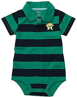 Carter ́s Newborn Wide-Striped Collared Creeper