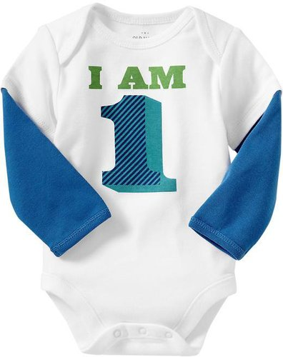 """I Am 1"" 2-in-1 Bodysuits for Baby"