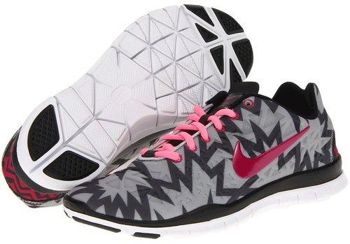 Nike - Free Fit 3 Print (Strata Grey/Anthracite/Black/Sport Fuchsia) - Footwear