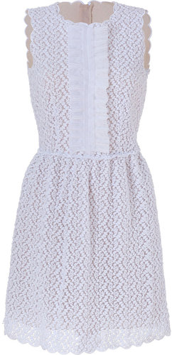 Valentino R.E.D. White Embroidered Dress