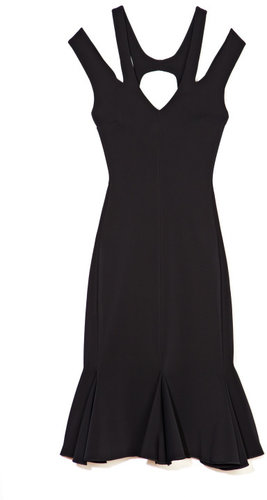 Josh Goot Panelled Flare Cut Out Dress