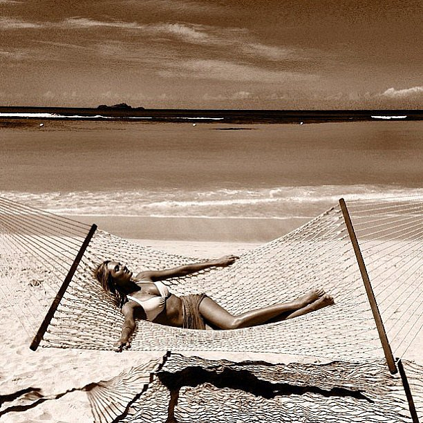 Candice Swanepoel lounged in a hammock in St. Barts — aka our idea of the best day ever. Source: Instagram user angelcandices