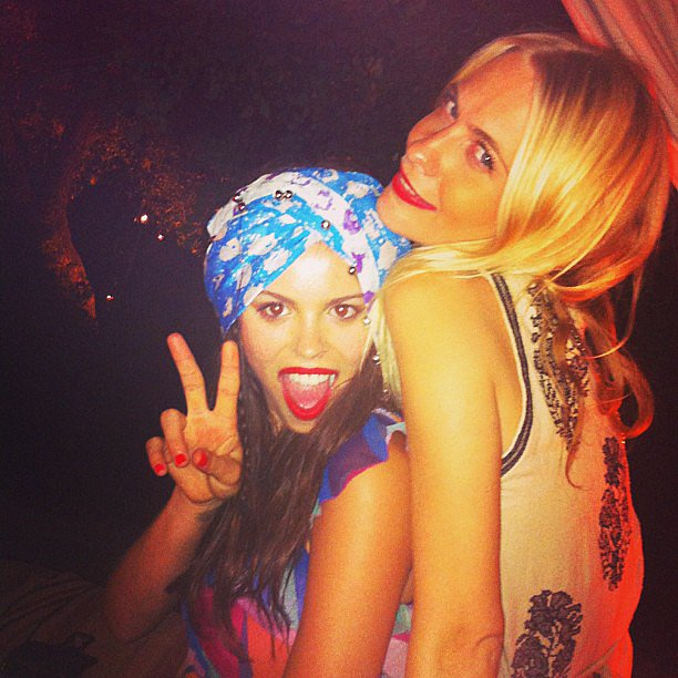 Atlanta de Cadenet Taylor and Poppy Delevingne partied in Morocco. Source: Instagram user atlantabean