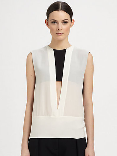 Narciso Rodriguez Silk Cutout Blouse