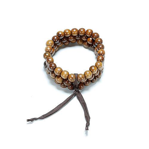 not to worry teak wood bracelet set of 3