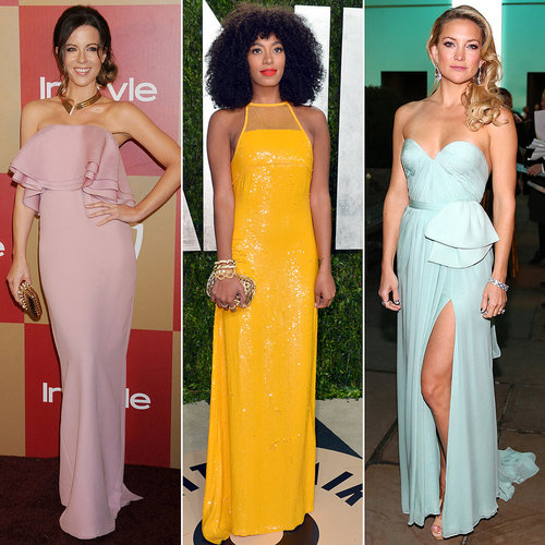 Head over to POPSUGAR Fashion to see standout bridesmaid-worthy gowns worn by everyone from Kate Hudson to Solange Knowles for further wedding-fueled inspiration.