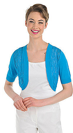 Peter Nygard Elbow-Sleeve Pointelle Shrug