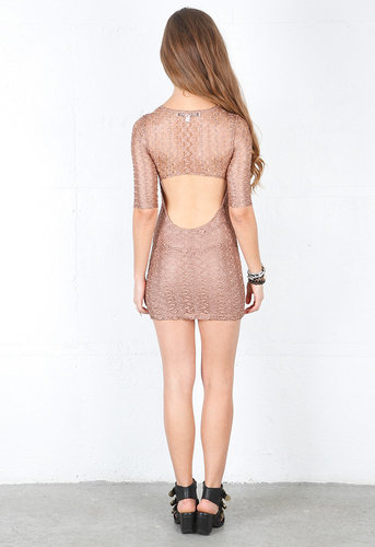 Sway Mini Dress in Mauve Lace - by lovers + friends