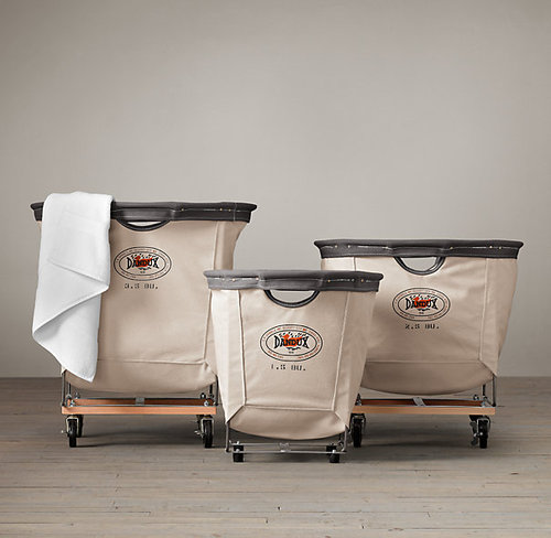 Laundry Cart Round Collection Natural