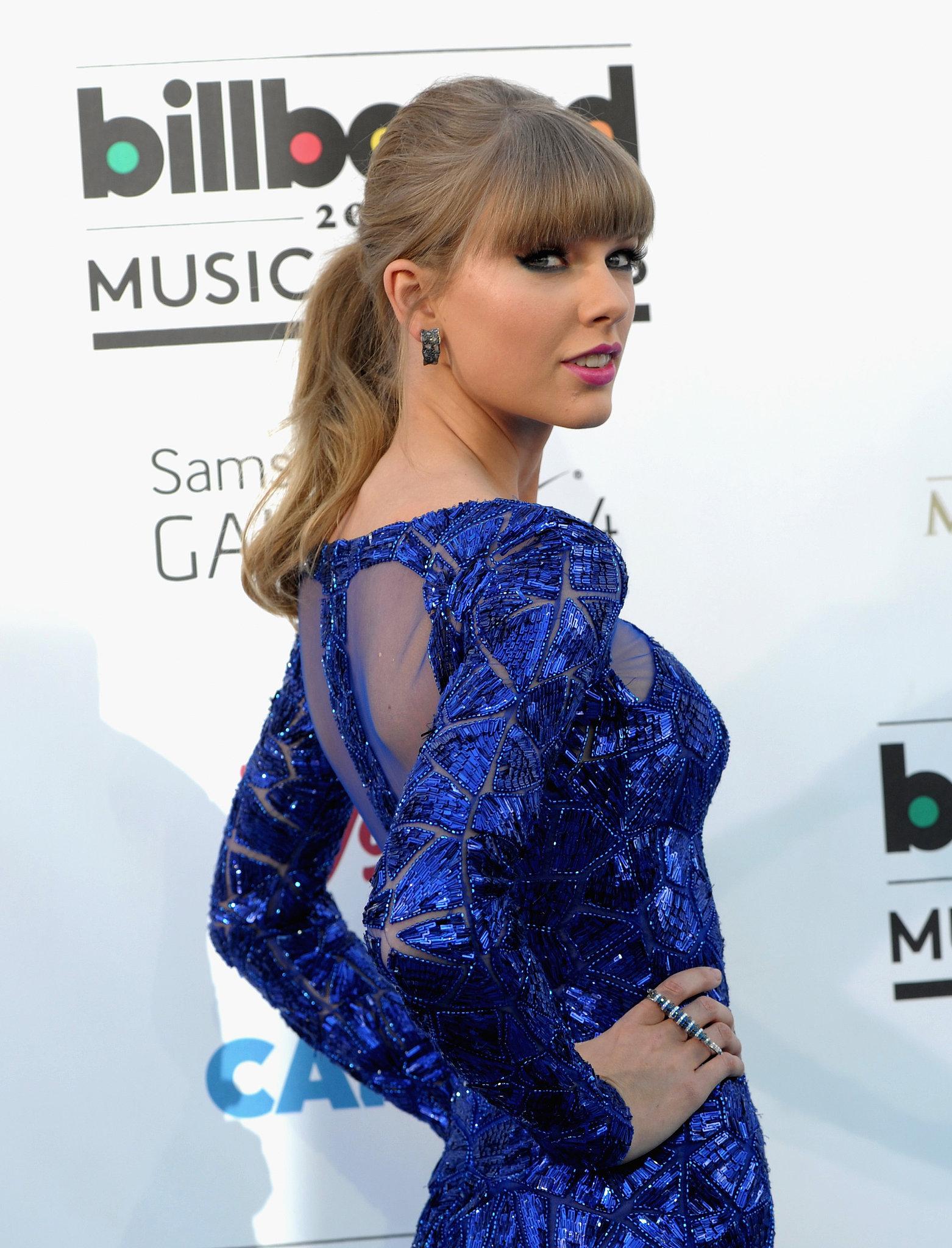 Taylor Swift's dress had a sheer back at the Billboard Music Awards.