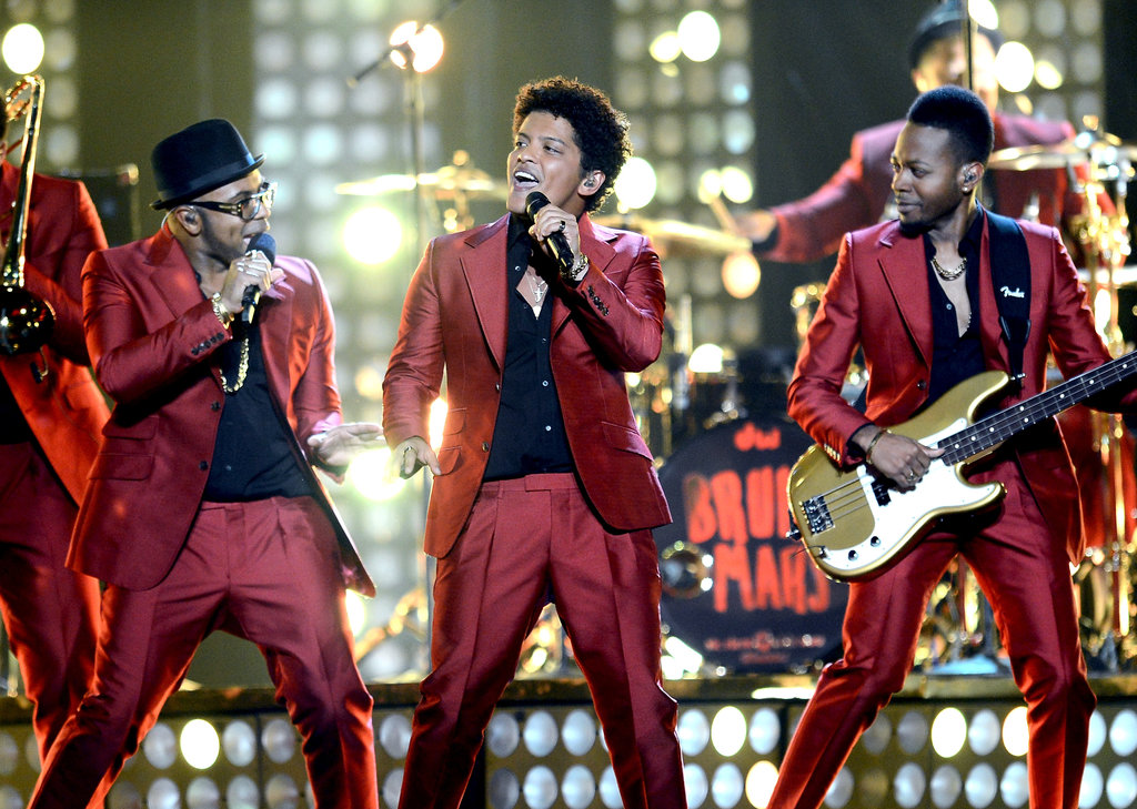 Bruno Mars sang at the Billboard Music Awards.