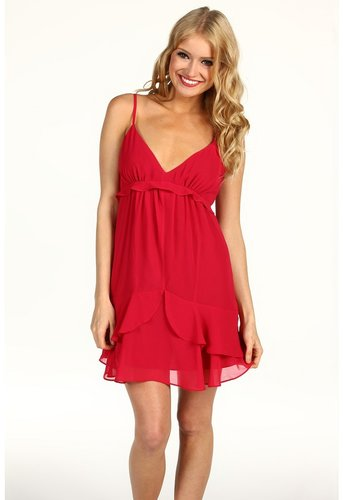 BCBGeneration - Flounce Slip Dress (Ruby Red) - Apparel