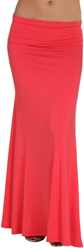 Knit Foldover Maxi Skirt