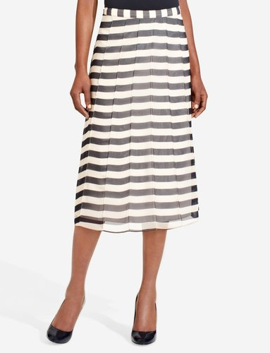 Pintucked Long Skirt