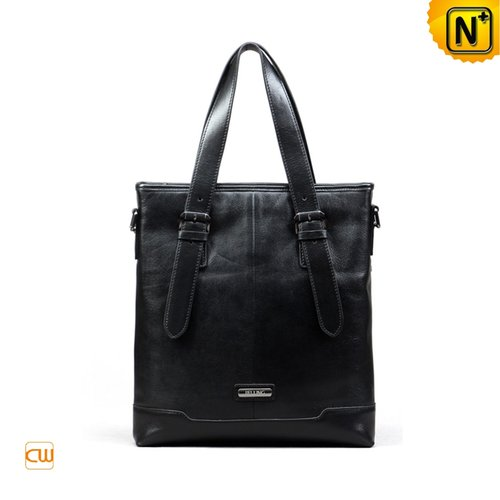 Black Leather Slim Briefcase CW972383 - cwmalls.com