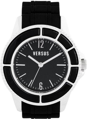 Versus by Versace Watch, Unisex Tokyo Black Rubber Strap 42mm AL13LBQ809 A009