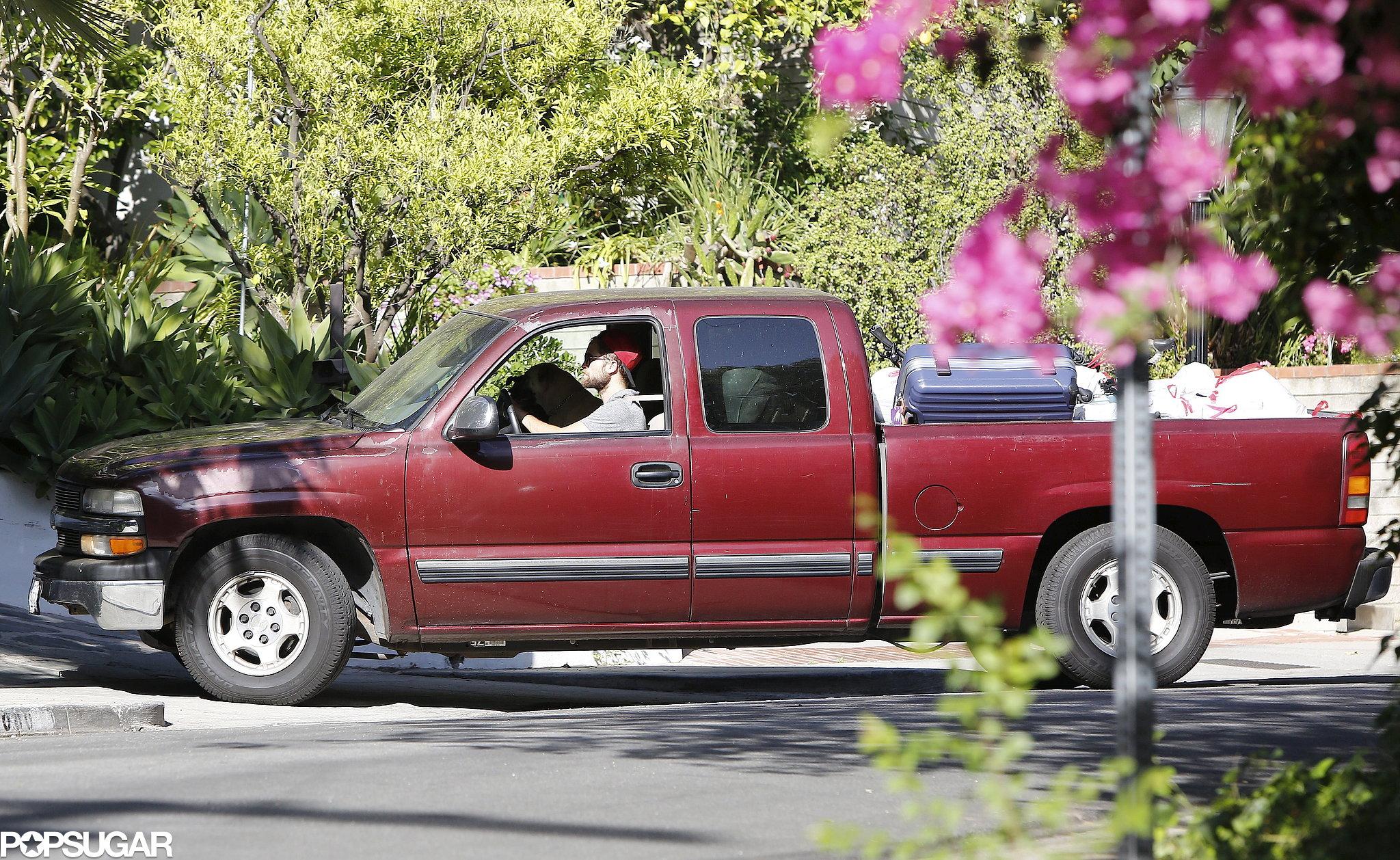 Robert Pattinson drove through Los Feliz.