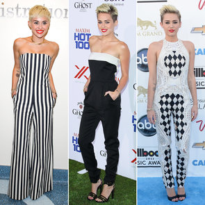 Miley Cyrus Finds Her Signature Style: Black & White & Pants