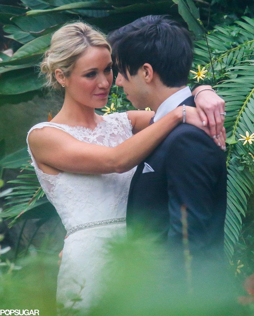 Katrina Bowden and Ben Jorgensen got married at the Brooklyn Botanic Garden in NYC.