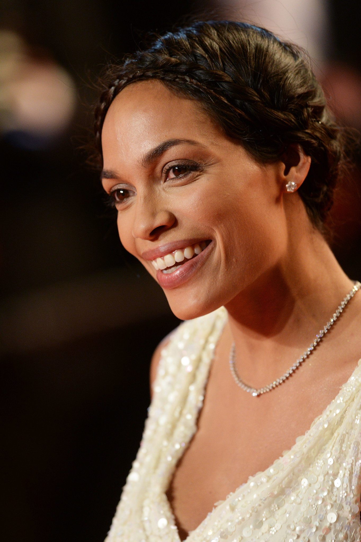At the premiere of As I Lay Dying at the Cannes Film Festival, Rosario Dawson stunned with a delicate crown of braids.