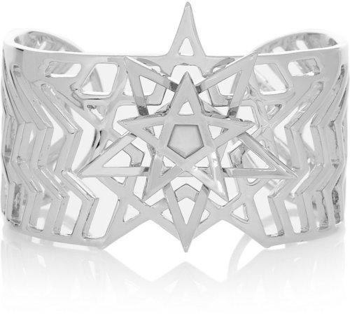 Eddie Borgo Pentagram silver-plated agate cuff