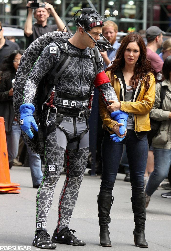 Megan Fox filmed with actor Alan Ritchson in a CGI costume.