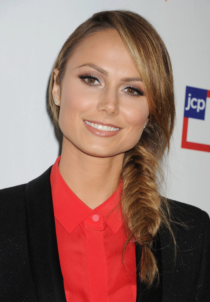 Stacy Keibler showed off a polished fishtail braid at a JCPenney event earlier this year.