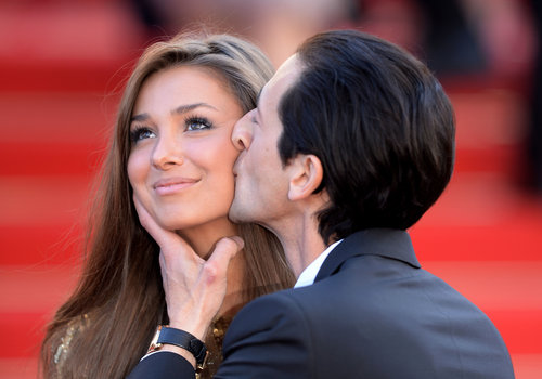 Adrien Brody kissed his girlfriend, Lara Lieto, on Tuesday at the Cannes Film Festival premiere of Cleopatra.