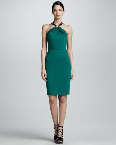 Jason Wu Halter Sheath Dress, Emerald
